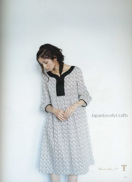 Adult Couture by Yoshiko Tsukiori - Japanese Sewing Patterns Book for Women - Natural One-Piece Dress, Tunic Blouse - B197. $24.80, via Etsy.