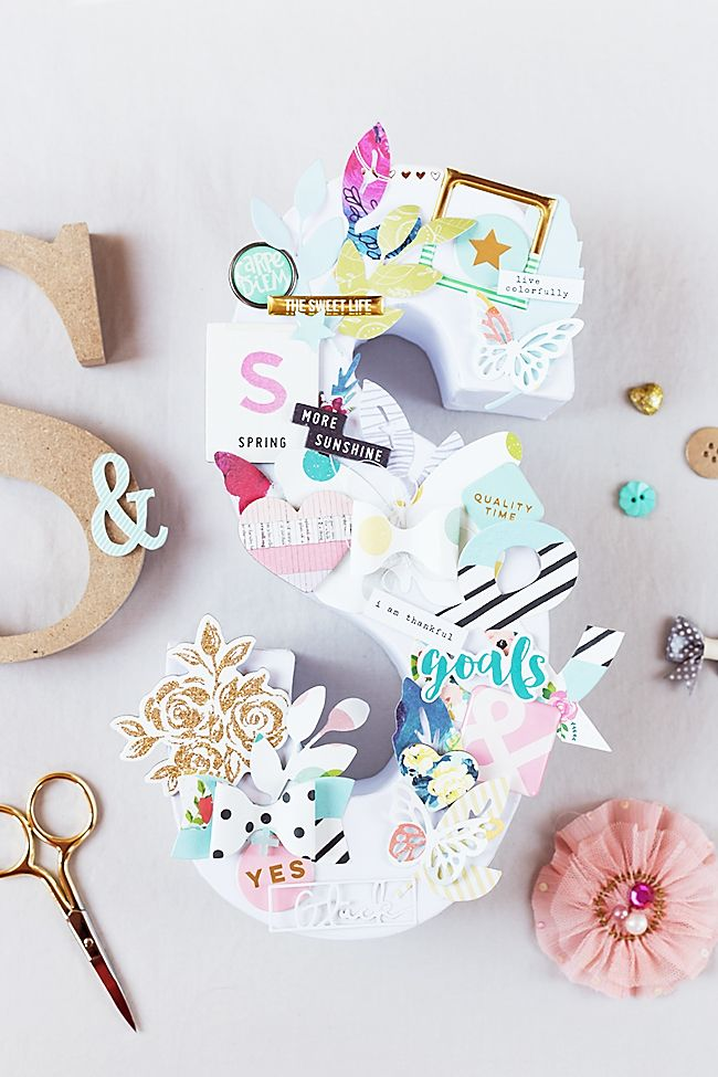 mojosanti : Blog-Hop Happy Scrappy Friends I Juni 2016 I Decoration With Die Cuts