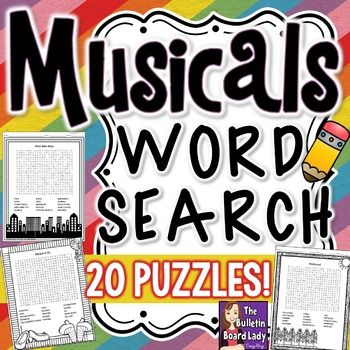 Word Search: Singer's Vocabulary - Oklahoma