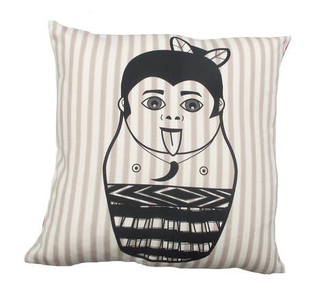 Maori Boy Cushion 450mm x 450mm by Tantrum Design