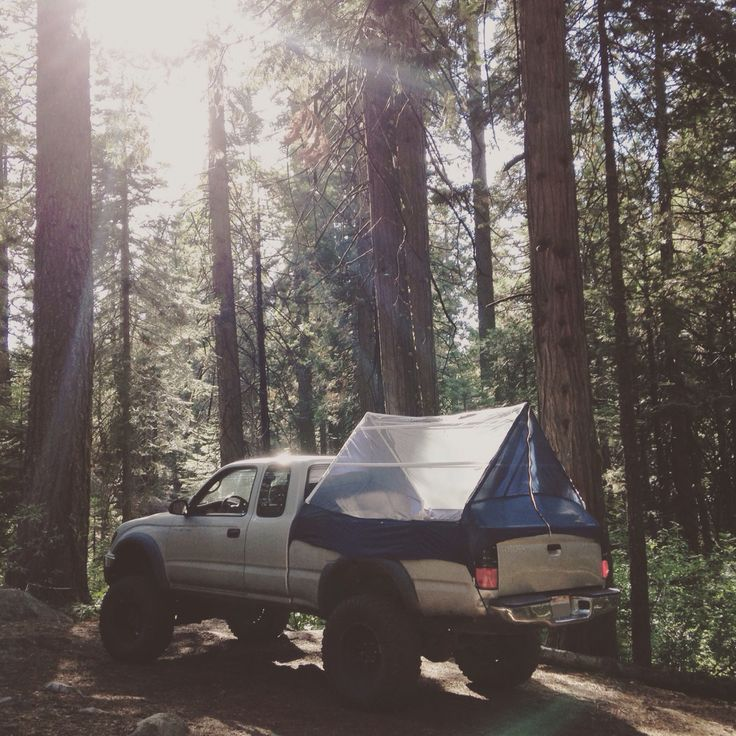 DIY Toyota Tacoma truck tent.