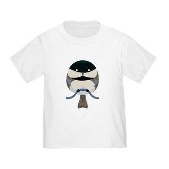 Cartoon Chickadee Toddler T-Shirt from cafepress store: AG Painted Brush T-Shirts. #toddler #bird #chickadee