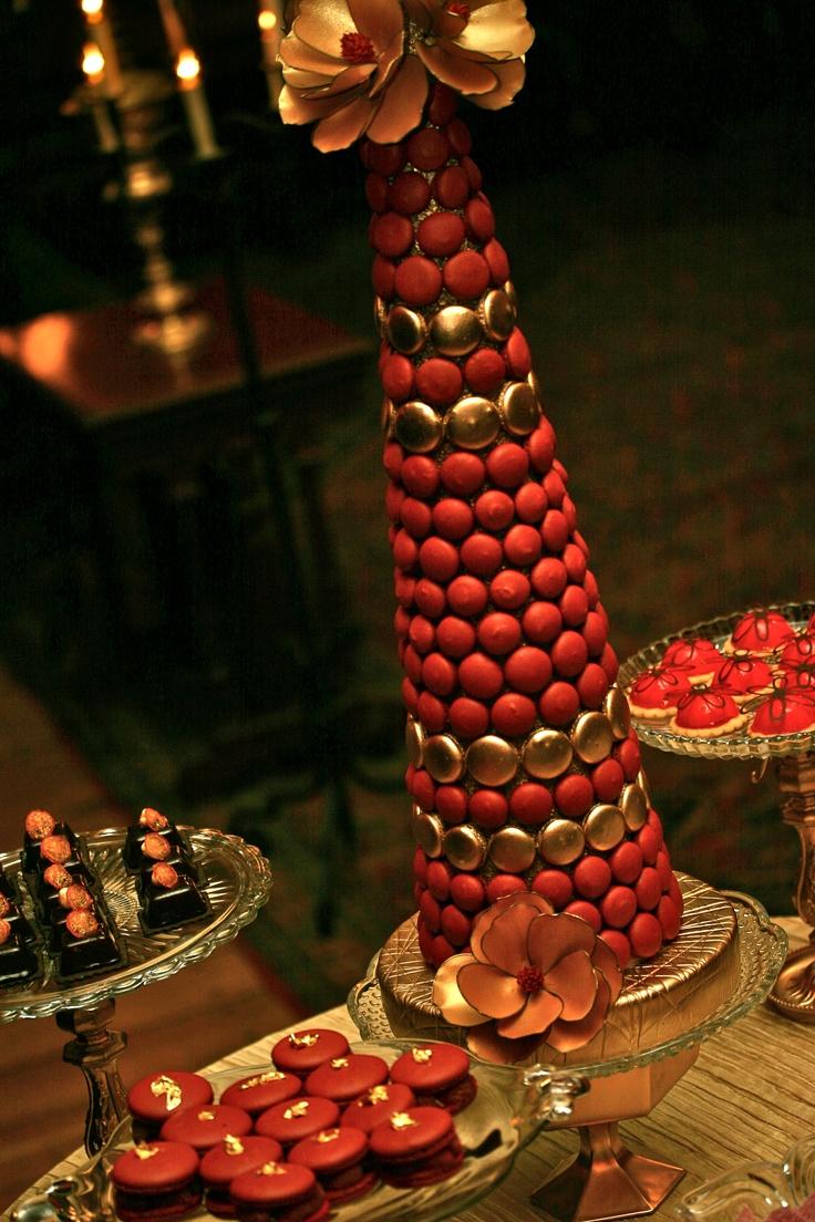 Gold & Red Dessert Display