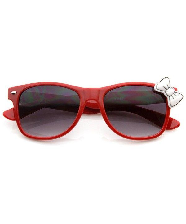 fbf1b7d4c Ladies Trend Cat Eye Retro Fashion Horn Rimmed w/ Kitty Bow - Red-white -  C2119NQGBSJ - Women's Sunglasses, Wayfarer #Wayfarer #Women's #Sunglasses #  # ...