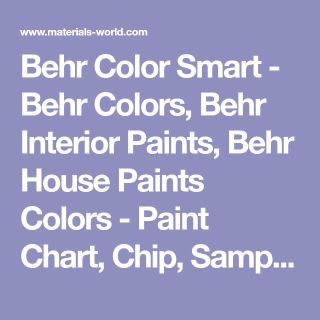 Ponad 25 najlepszych pomysłów na Pintereście na temat Behr paint - sample general color chart