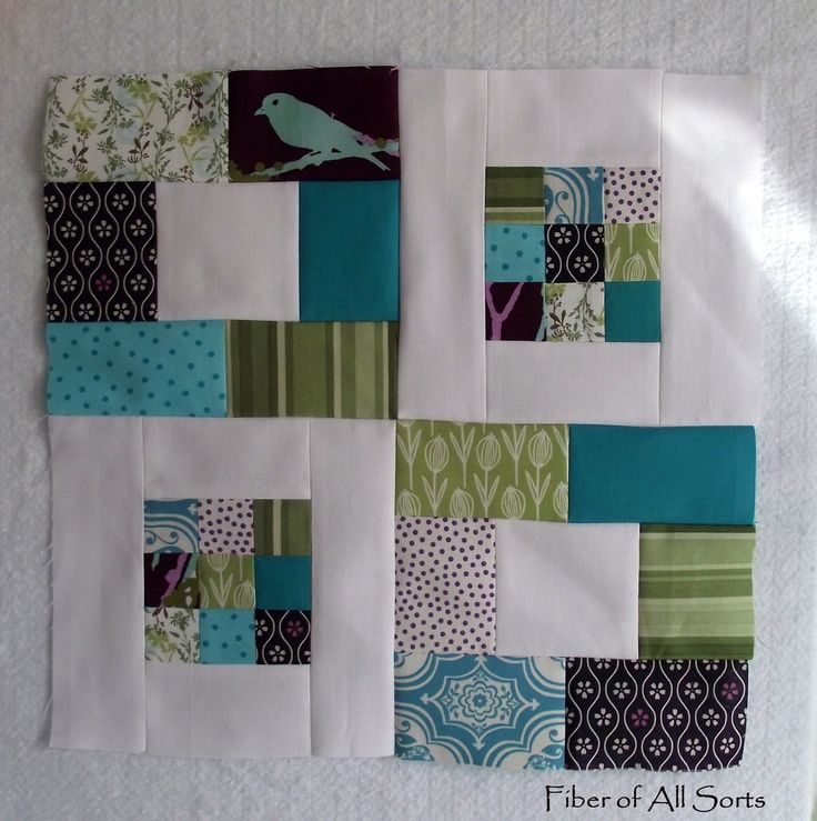 Sew cool!  {could be useful for novelty prints in place of the white center squares}