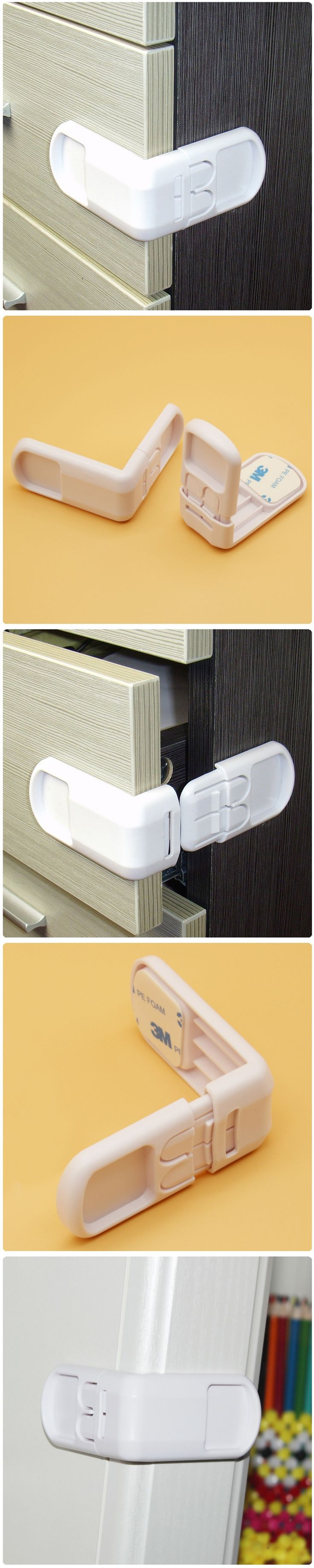 Baby Safety Lock Security Locks Drawer Lengthened Bendy Plastic Locker Quality Safety locks for child Cabinet Door Drawers