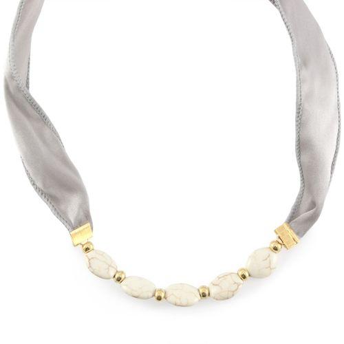 Luxe sieraden met Keramiek Turquoise kralen en zijde draad DQ