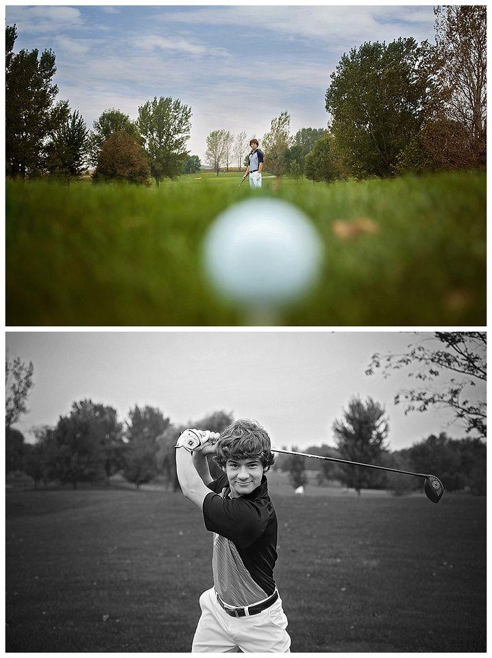 senior boy photography, senior photography, fall senior photography, golf senior pictures