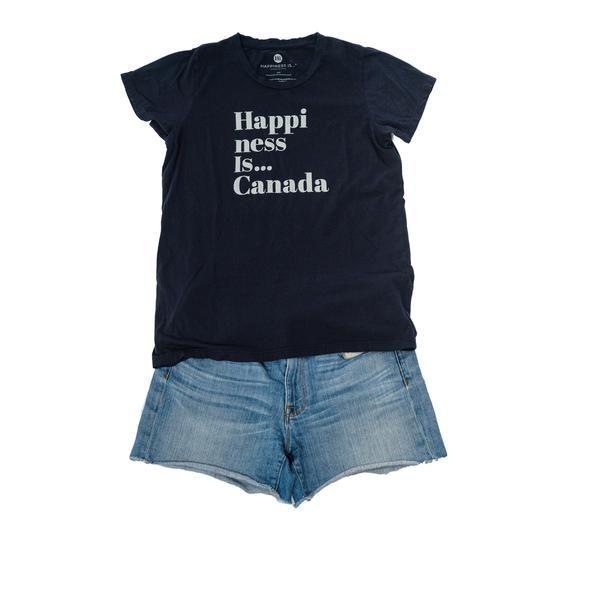 Canada Women's T-Shirt, Navy