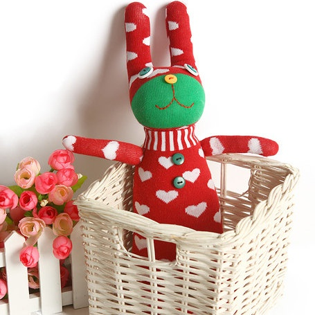 Handmade Socks Made Love Red Rabbit by xixiyang on Etsy $20.0