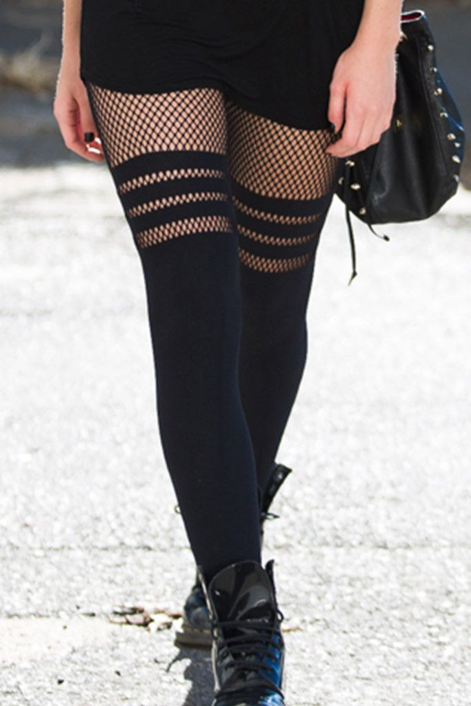Sporty Stripes Hosiery 2.0 – Black Milk Clothing