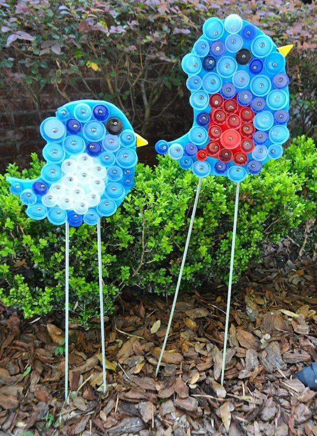 Die besten 25 basteln mit kronkorken ideen auf pinterest for Gartengestaltung vogel