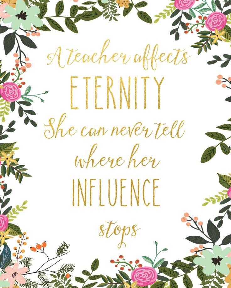 A Teacher Affects Eternity Print / Teacher Gift / Teacher Wall Art / T – Mad Kitty Media