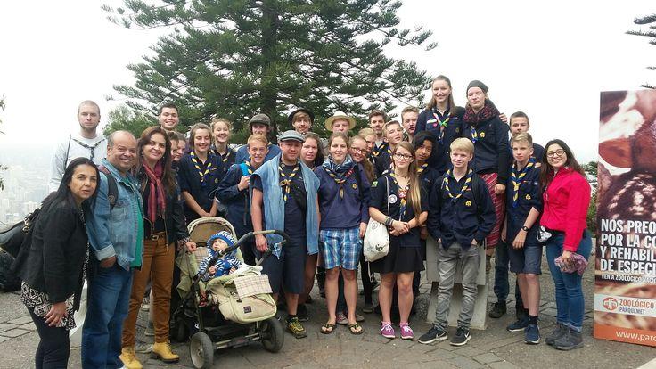 Com escoteiros alemães no Chile