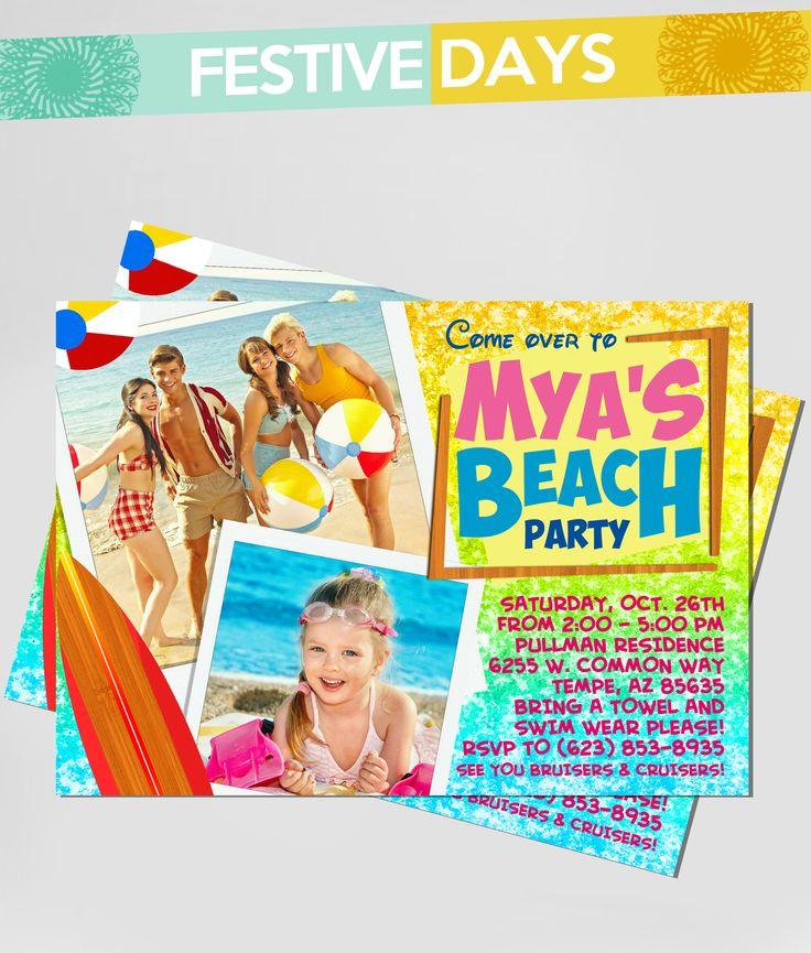 DIY Printable - Teen Beach Movie - 5x7 Birthday Invitation with Picture Option