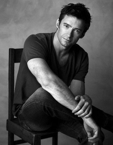 Hugh Jackman senior-boys pose