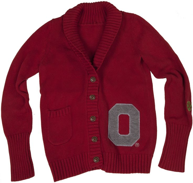 OSU Women's Scarlet Letterman Cardigan available now at shopthequad.com.