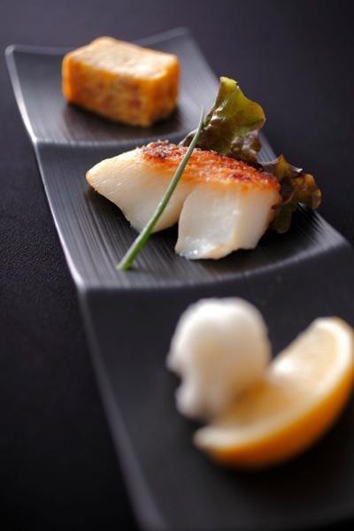 Sea bass Japanese dinner