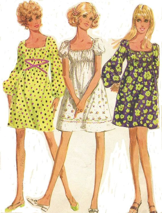 1960s Simplicity Sewing Pattern 9715 Womens Mod by CloesCloset