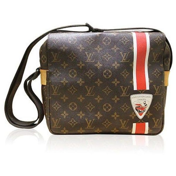 Pre-Owned Louis Vuitton  China Run Naviglio Monogram Canvas Messenger... ($1,626) ❤ liked on Polyvore featuring bags, messenger bags, multi, louis vuitton bags, courier bag, laptop messenger bags, louis vuitton messenger bag and canvas crossbody