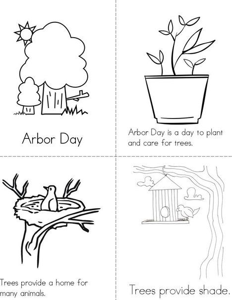 Arbor Day Mini Book from TwistyNoodle.com