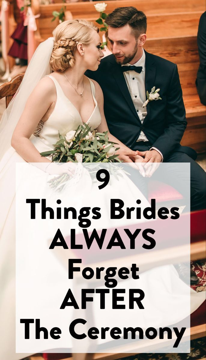 9 Things Brides Always Forget To Do After Their Wedding Ceremony Wedding Shower Gifts Diy Wedding Ceremony Wedding Shower Gifts
