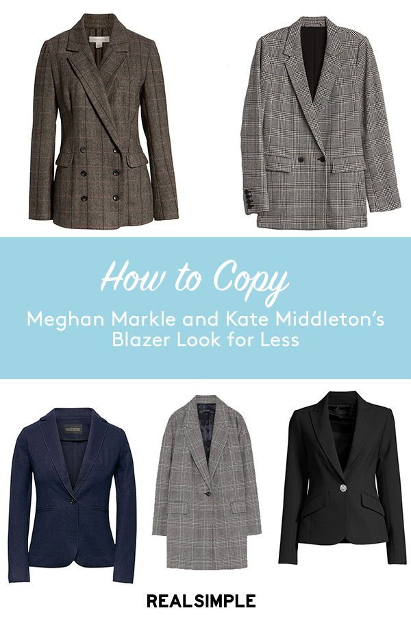 3ba8d1741fe2 Meghan Markle and Kate Middleton Are Both Sporting Blazers This Fall-Here's  How to Copy Their Looks | If you didn't think blazers were fall's must-have  ...