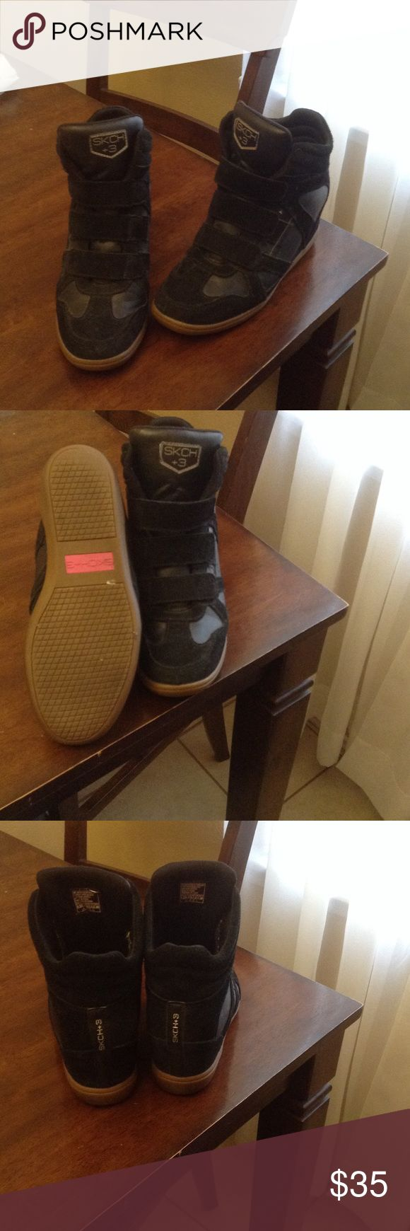 Sketchers hightop wedge sneaker Great Condition Skechers Shoes Athletic Shoes