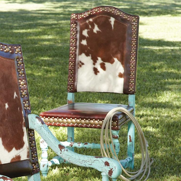 Dine in Western Fashion: Cowhide Chairs | Stylish Western Home Decorating