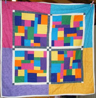 My very first quilt! I was so ambitious designing it.