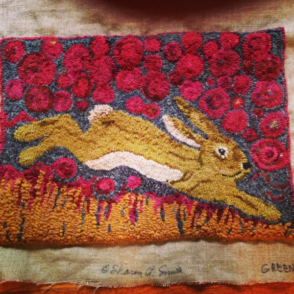 148 Best Bunny Hooked Rugs Images On Pinterest