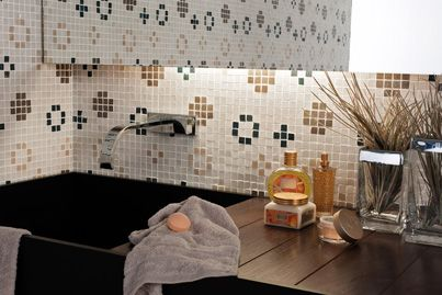 A retro tile vibe can brighten even the mundane task of washing the dishes.