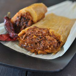 Rick Bayless Red Chili Pork Tamale