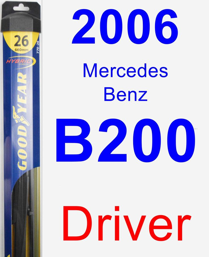 Driver Wiper Blade for 2006 Mercedes-Benz B200 - Hybrid