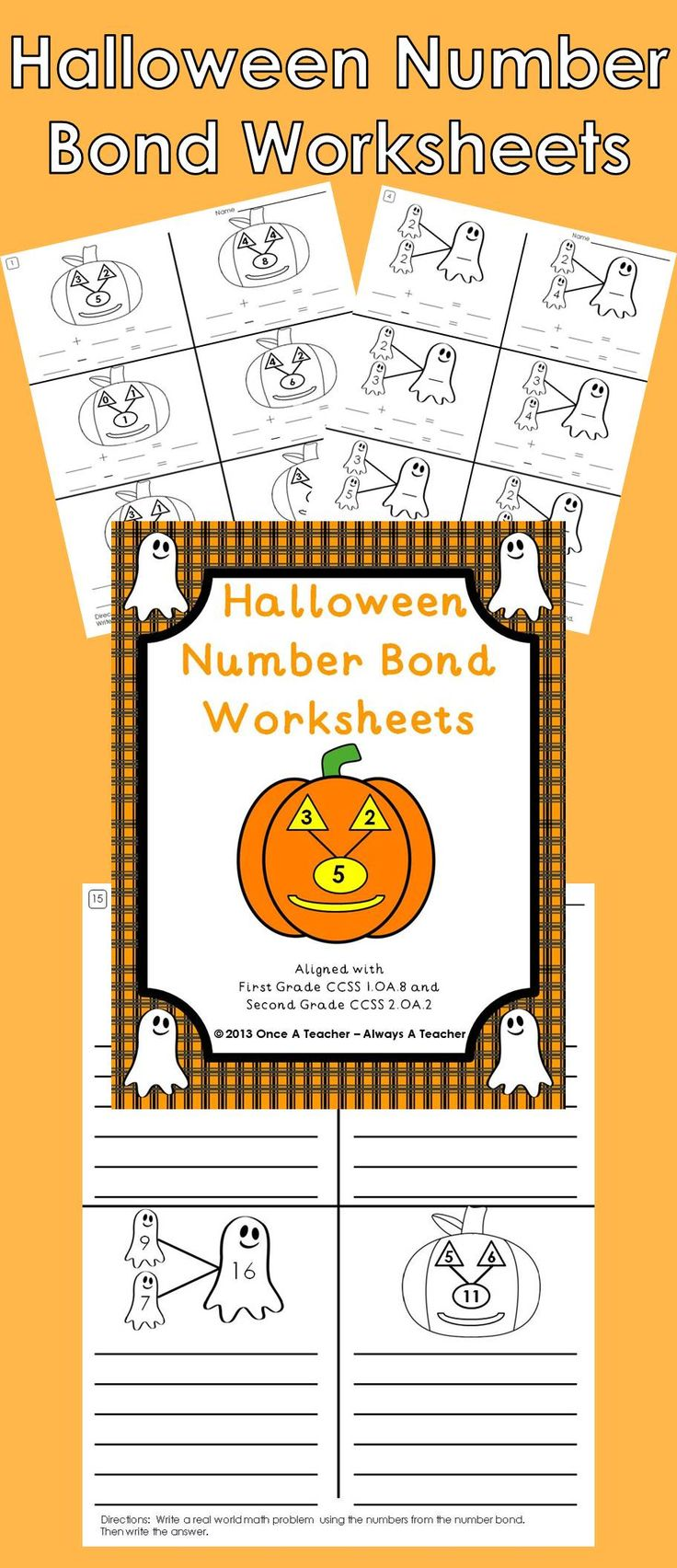 worksheet Number Bond Worksheets 17 best ideas about number bonds worksheets on pinterest add some halloween fun to your students math class with this collection of bond