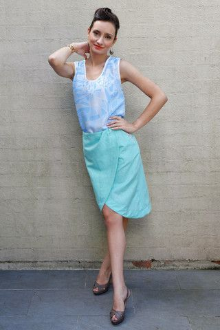lantau skirt (seagrass green)