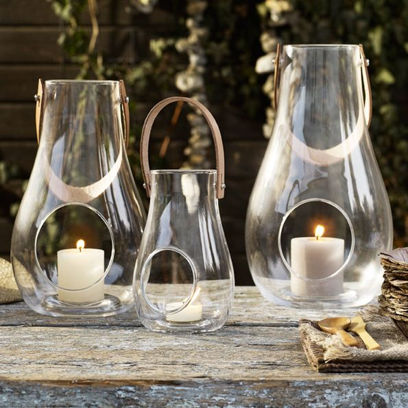 Glass lanterns. Perfect for a Christmas present or a house warming gift.