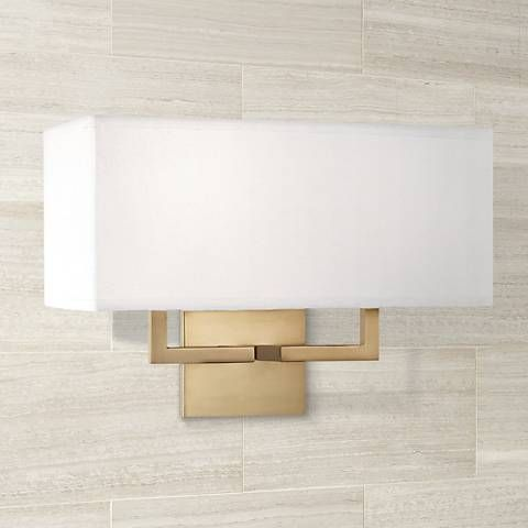George Kovacs Rectangle 11 High 2 Light Gold Wall Sconce Bathroom