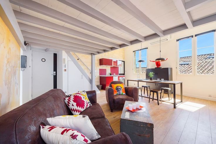 """Entire home/apt in Montpellier, FR. Ideally located close to all transport and shops in the heart of the historic center, Sleep In Montpellier offers a renovated apartment of 40 sqm in the """"industrial"""" style.  Completely full of light, very quiet, the apartment has a living / dining..."""