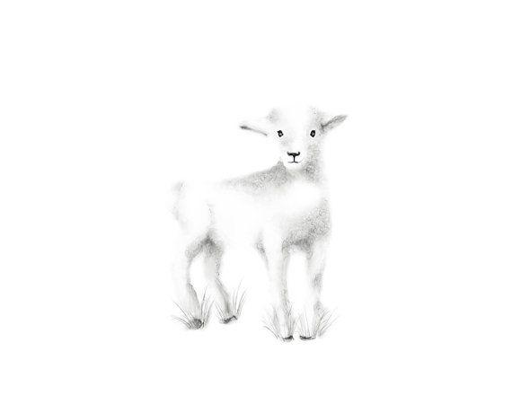 L'agneau pépinière Art gris pépinière pépinière par studioQgallery