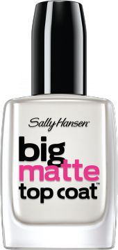 Big Matte Top Coat by Sally Hansen. Use this topcoat to make your favorite nail polish color matte! I like to use it on every other nail so I have a pedi that's the same color but some are shiny and some are matte. It's a fun effect!