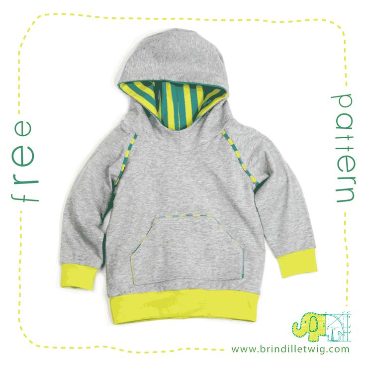 Knitting Pattern Hoodie Child : Brindille & Twig - Free Hoodie Pattern (I love all her ...