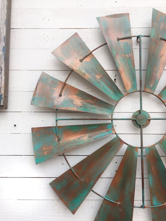 Full Windmill Head 35 Wall Decor Rustic Farmhouse by CamillaCotton
