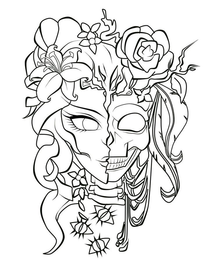 Best 25 sugar skull girl ideas on pinterest sugar skull for Halloween coloring pages for adults printables