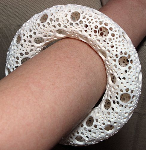 Radiolarian Bracelet 1 - 3    incredible! I have no idea how this can be made :'O. 3D printing.