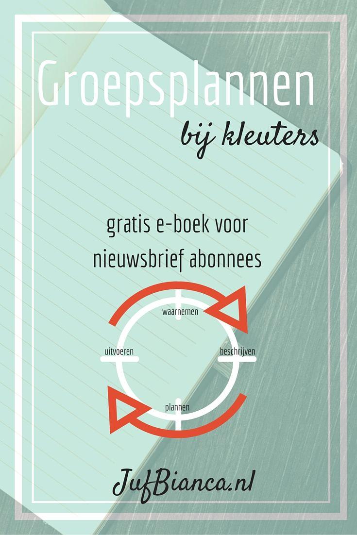Download het gratis e-boek over groepsplannen bij kleuters - alleen voor nieuwsbrief abonnees van JufBianca.nl!