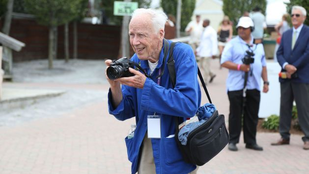 Bill Cunningham works at the 39th Annual Hampton Classic Horse Show on August 31, 2014 in Bridgehampton, New York. Photo: Taylor Hill/WireImage