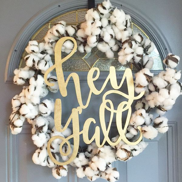 Hand Lettered Hey Y'all Door Sign | Winnie Jean