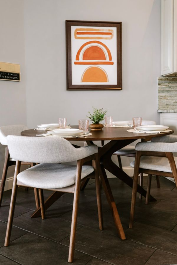 Conan Round Dining Table Round Dining Table Vintage Dining Room Round Dining